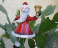Decoración navideña en el jardín
