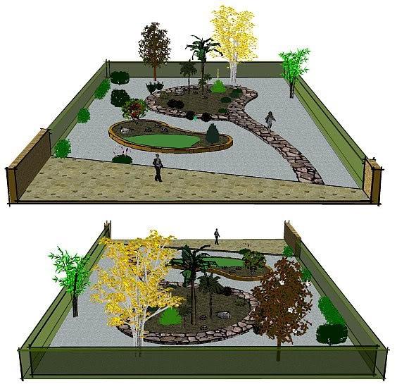 Imagen, planemiento en ppel para distribución de jardin