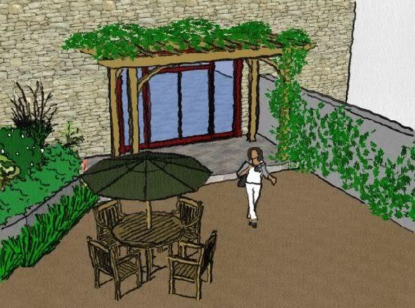 Imagen, visualizando el jardin.